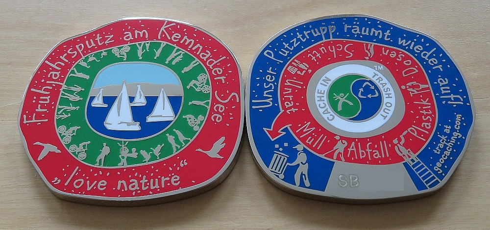 Geocoin Red RE